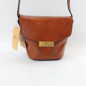 Patricia Nash Tan Leather Clochet Bucket Crossbody